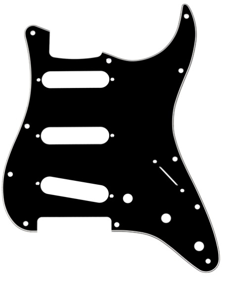 Fender Pickguard SSS Black
