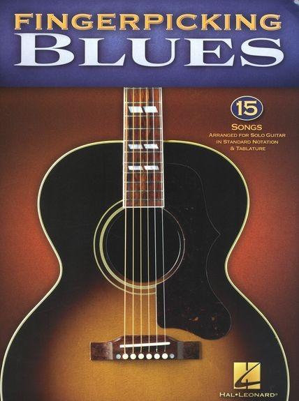 No brand FINGERPICKING BLUES 15 SONGS ARR FOR SOLO GUITAR GTR TAB BK