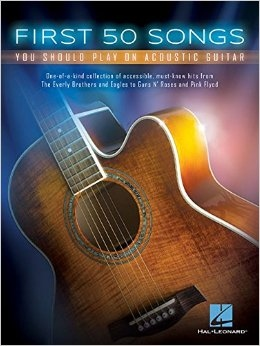 No brand FIRST 50 SONGS YOU SHOULD PLAY ON ACOUSTIC GUITAR GTR BK