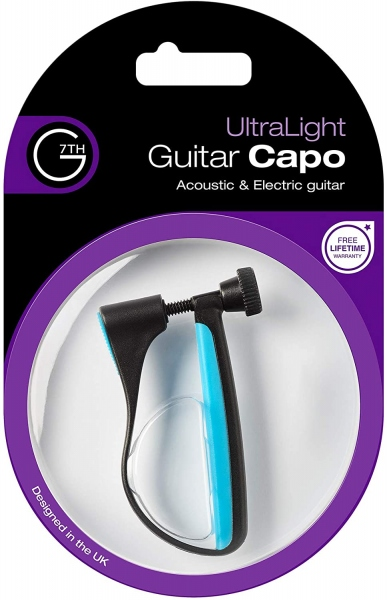 G7th UltraLight Guitar Capo Acoustic/Electric Blue