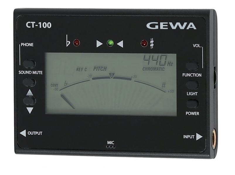 Tuner (acordor) cromatic digital cu generator de ton Gewa CT-100