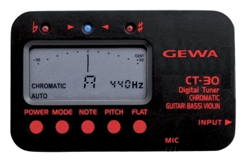 Tuner (acordor) cromatic digital Gewa CT-30