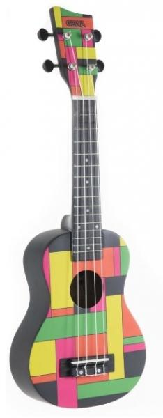 Gewa Soprano Ukulele Manoa Square Black Neon