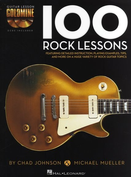 No brand GUITAR LESSON GOLDMINE 100 ROCK LESSONS GTR BK/2CD