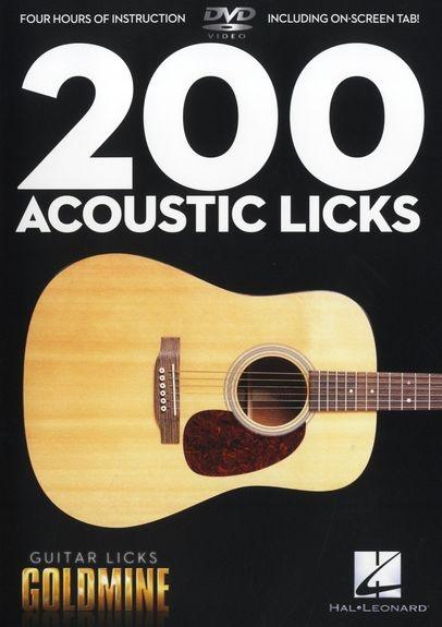 No brand GUITAR LICKS GOLDMINE 200 ACOUSTIC LICKS GTR DVD