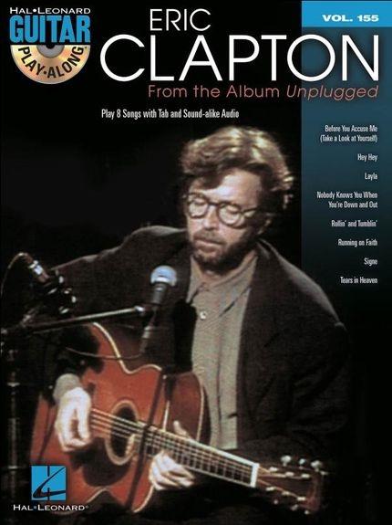 No brand GUITAR PLAY ALONG VOLUME 155 CLAPTON ERIC UNPLUGGED GTR TAB BK/CD