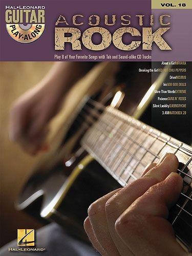 No brand GUITAR PLAY ALONG VOLUME 18 ACOUSTIC ROCK GTR TAB BOOK/CD
