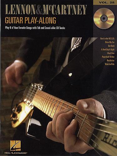 No brand GUITAR PLAY-ALONG VOLUME 25  LENNON AND MCCARTNEY GTR BOOK/CD