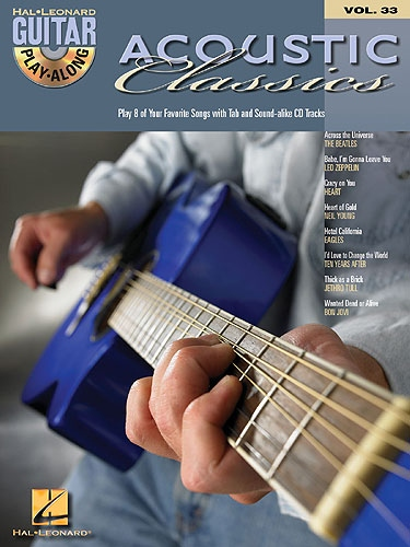 No brand GUITAR PLAY-ALONG VOLUME 33  ACOUSTIC CLASSICS GTR BOOK/CD