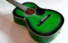 verde degrade cu gat de acustica