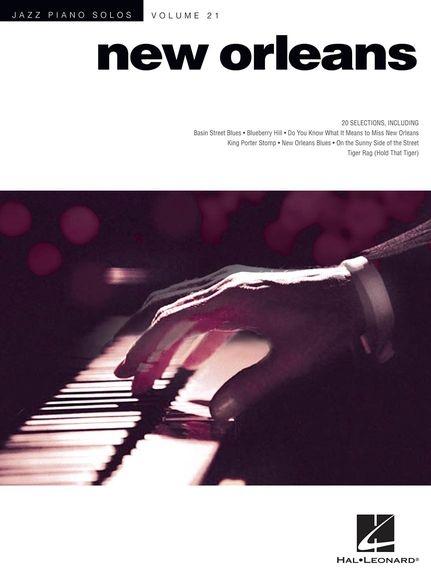 No brand JAZZ PIANO SOLOS VOLUME 21 NEW ORLEANS JAZZ PF BK