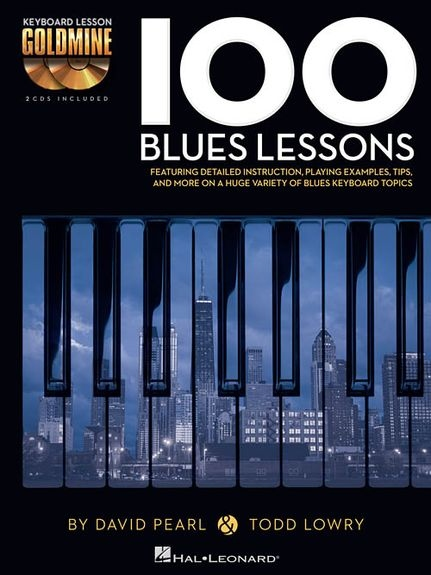 No brand KEYBOARD GOLDMINE 100 BLUES LESSONS PF BK/2CD