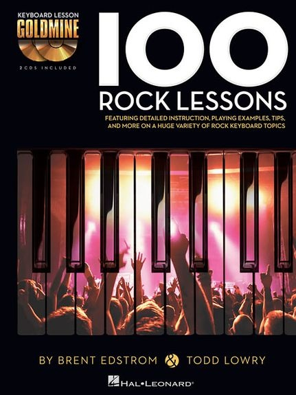 No brand KEYBOARD GOLDMINE 100 ROCK LESSONS PF BK/2CD