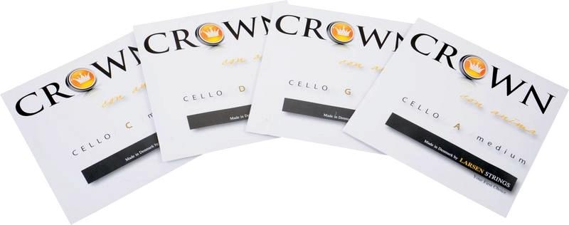 Set corzi violoncel Larsen Crown Medium Cello Set 4/4