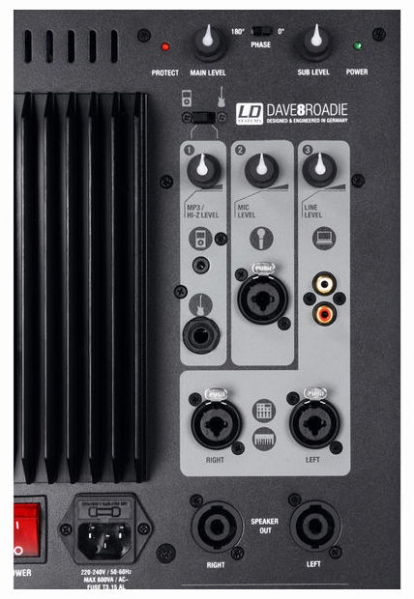 Sistem PA mobil cu mixer cu 3 canale incorporat  LD Systems Dave 8 Roadie