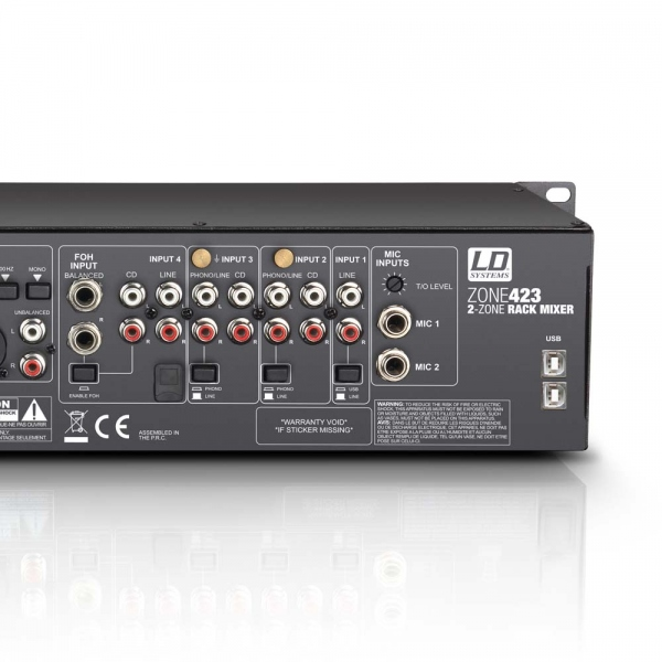 Mixer cu 2 zone LD Systems Zone 423