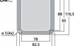 Placa pentru conector de intrare incinte acustice Monacor CP-1/SW