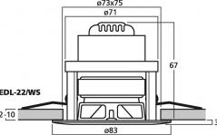 Monacor EDL-22/WS
