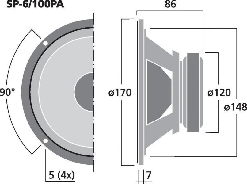 Monacor SP-6/100PA
