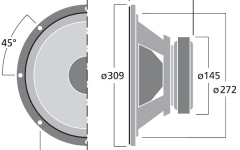 Difuzor de joase Monacor SPH-300KE