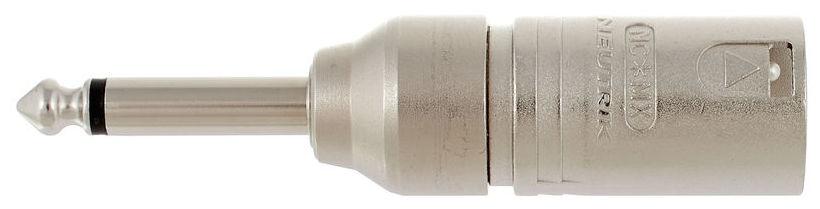 Adaptor de la conector XLR tata cu 3 pini la la jack mono (TS) tata Neutrik NA2MP