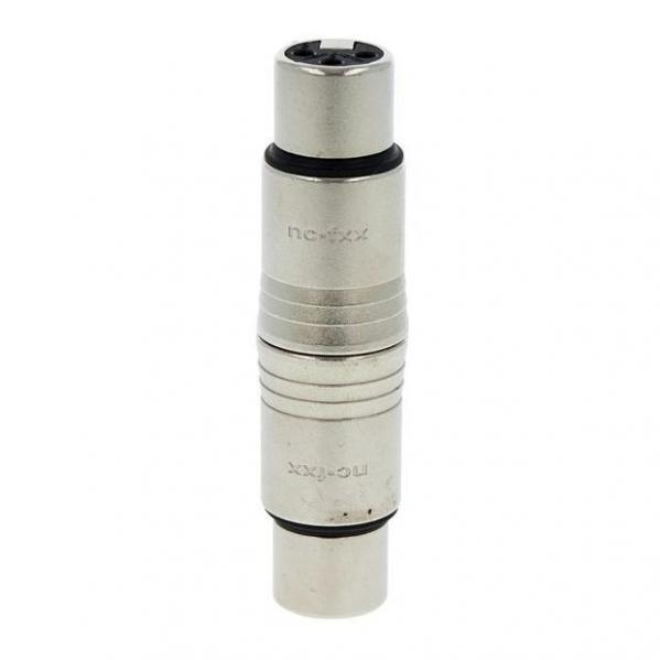 Adaptor de la conector XLR mama cu 3 pini la XLR mama cu 3 pini Neutrik NA3FF