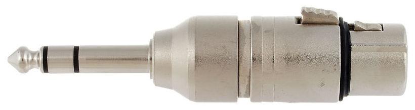 Adaptor XLR mama cu 3 pini la jack stereo 6.3 mm (TRS) tata Neutrik NA3FP
