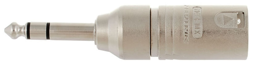 Adaptor de la conector XLR tata cu 3 pini la jack stereo (TRS) tata Neutrik NA3MP