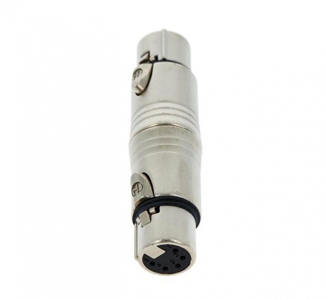 Adaptor XLR mama cu 5 pini la XLR mama cu 5 pini Neutrik NA5FF