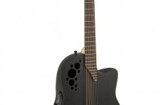 Ovation Elite TX MID Cutaway Black Textured 1778TX-5-G