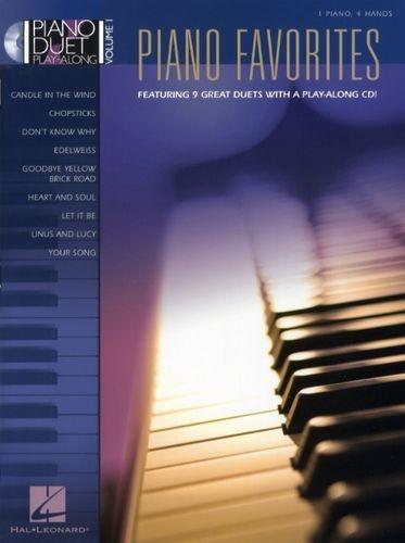 No brand PIANO DUET PLAY-ALONG VOLUME 1  PIANO FAVOURITES PF BOOK/CD
