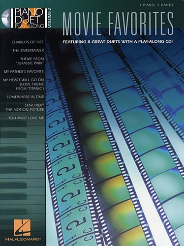 No brand PIANO DUET PLAY-ALONG VOLUME 2  MOVIE FAVOURITES PF BOOK/CD