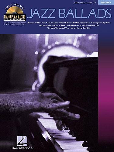 No brand PIANO PLAY-ALONG VOLUME 2  JAZZ BALLADS PVG PF BOOK/CD