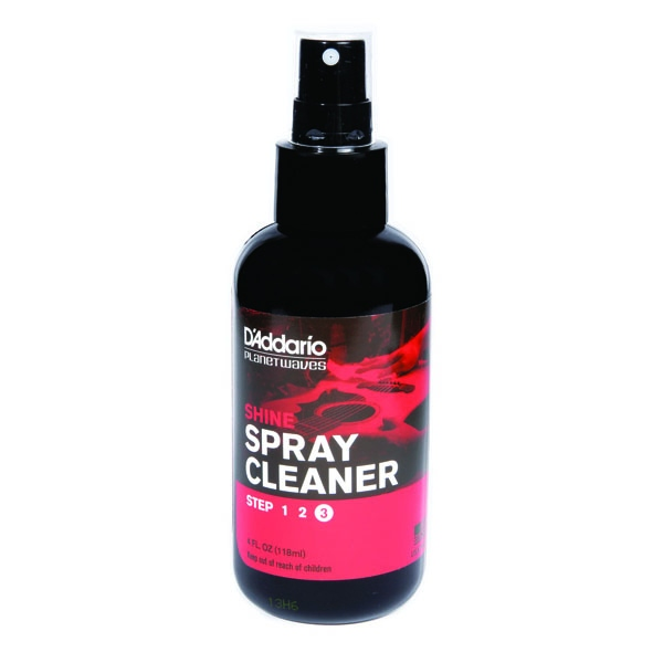 Planet Waves Shine - Instant Spray Cleaner Step3