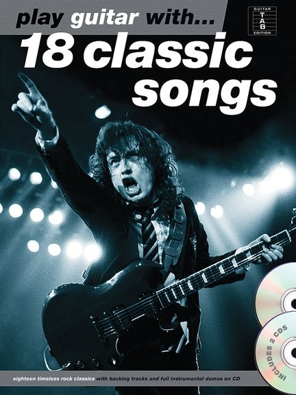 No brand PLAY GUITAR WITH 18 CLASSIC SONGS GTR BOOK/2CD