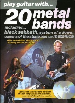 No brand PLAY GUITAR WITH 20 METAL BANDS GUITAR TAB BOOK/2CDS
