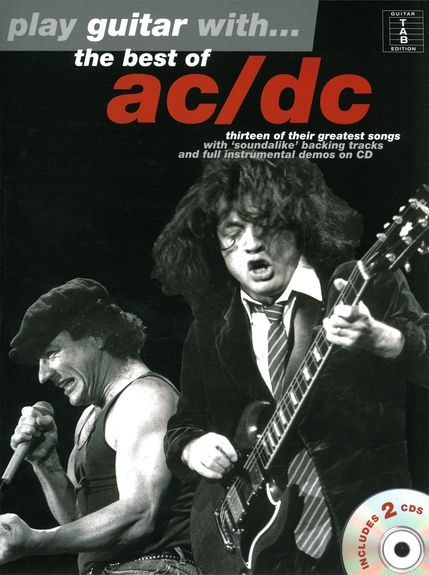 No brand PLAY GUITAR WITH THE BEST OF AC/DC GUITAR TAB BOOK/2CDS