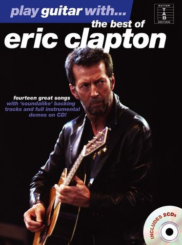 No brand PLAY GUITAR WITH THE BEST OF ERIC CLAPTON GUITAR TAB BOOK/2CDS