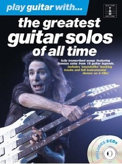 No brand PLAY GUITAR WITH THE GREATEST GUITAR SOLOS OF ALL TIME GTR TAB BK/2CDS