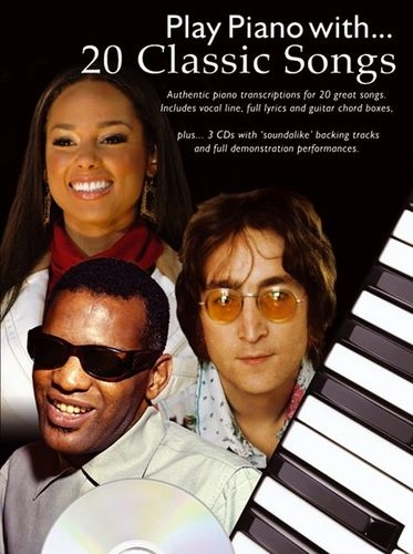No brand PLAY PIANO WITH 20 CLASSIC SONGS PIANO VOCAL GUITAR BOOK/3CDS