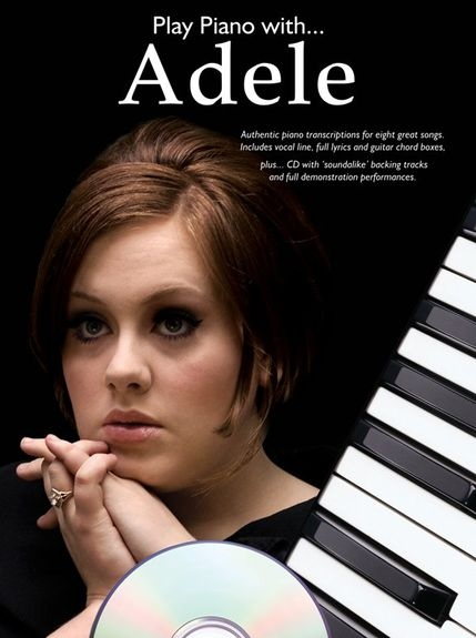 No brand PLAY PIANO WITH ADELE PIANO VOCAL GUITAR BOOK/CD