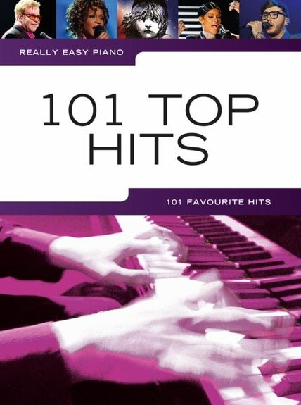 No brand REALLY EASY PIANO 101 TOP HITS PIANO BOOK