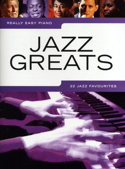No brand REALLY EASY PIANO JAZZ GREATS PIANO BOOK