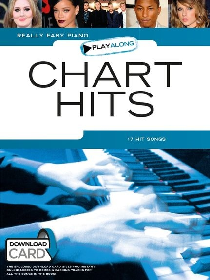 No brand REALLY EASY PIANO PLAYALONG CHART HITS BOOK & DOWNLOAD CARD