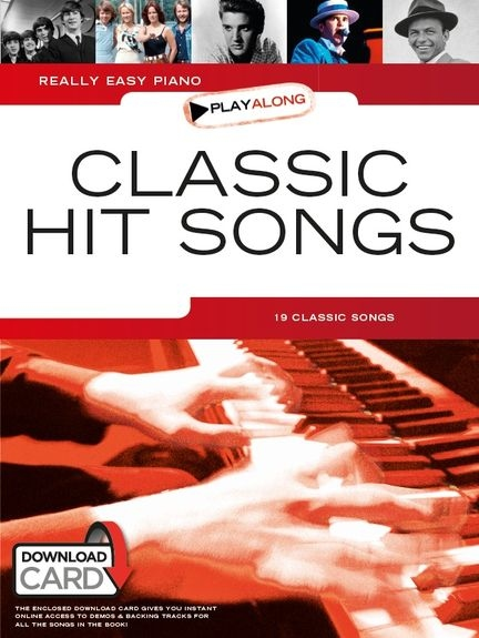 No brand REALLY EASY PIANO PLAYALONG CLASSIC HIT SONGS PF BOOK & DOWNLOAD CARD