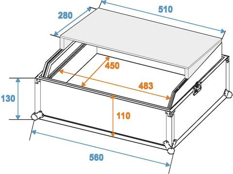 Roadinger Mixer case Pro LS-19