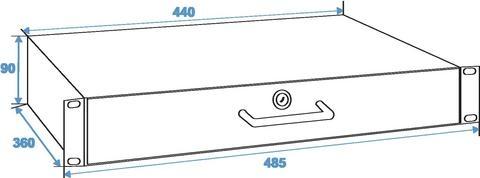 Roadinger Rack Drawer 2U