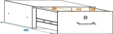Roadinger Rack Drawer 4U