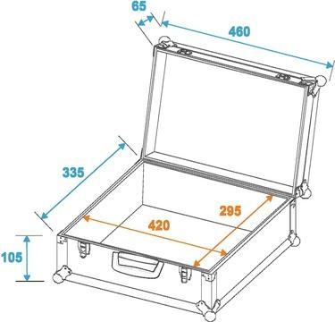 Roadinger Universal Case - Foam