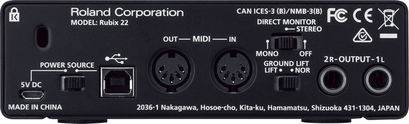 Interfata audio USB cu 2 canale Roland Rubix22